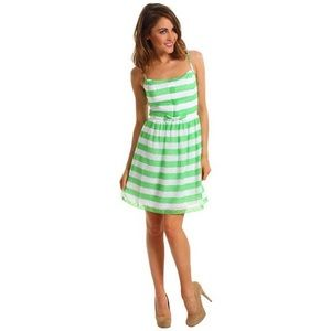 Lilly Pulitzer Green & White Striped Dress